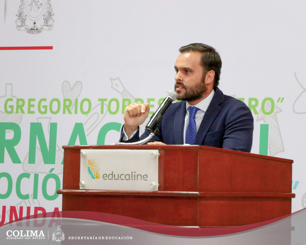 Javier Pérez de Educaline, durante la ponencia
