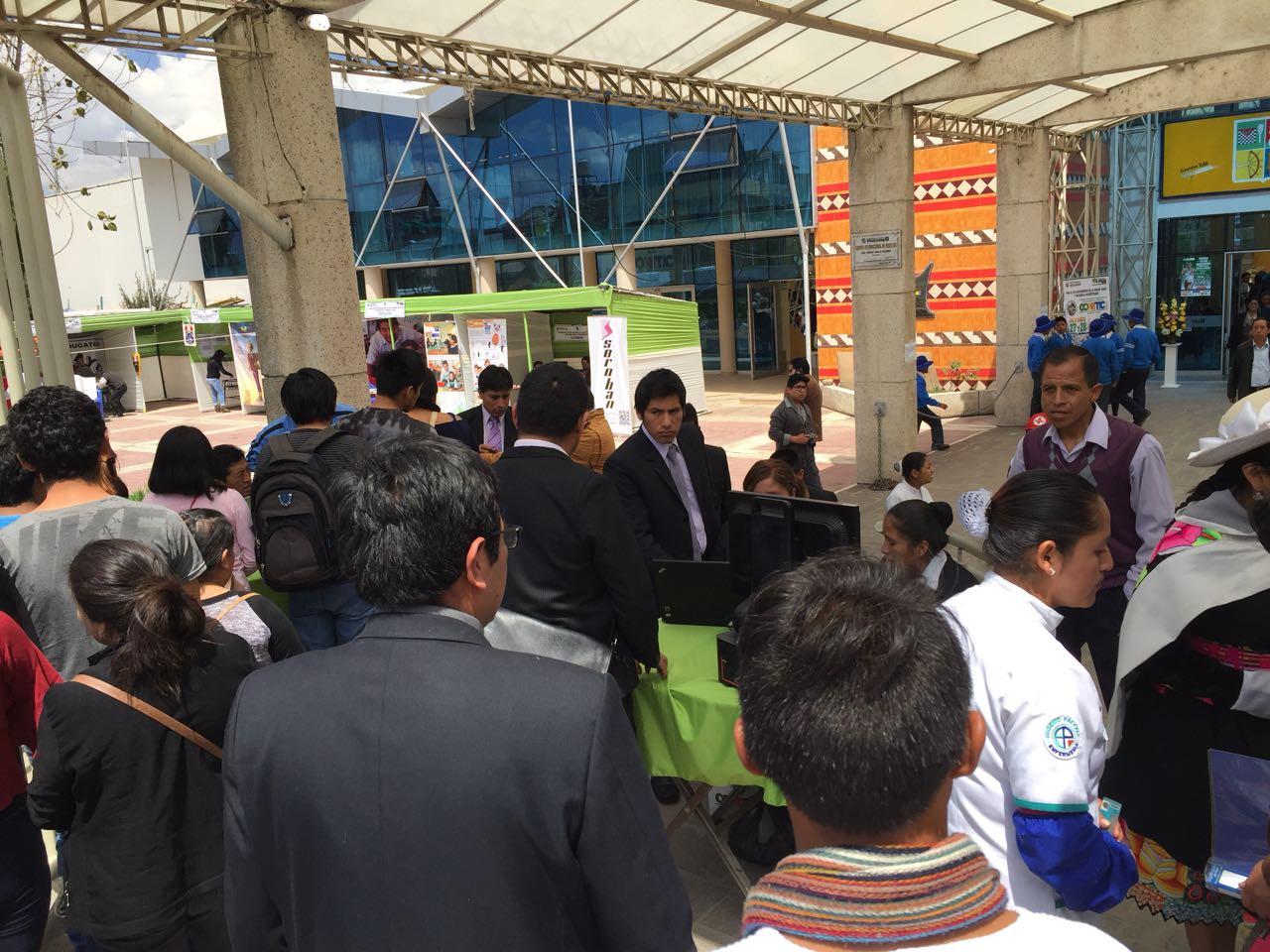 Registro a la entrada del CONITIC en Huancayo